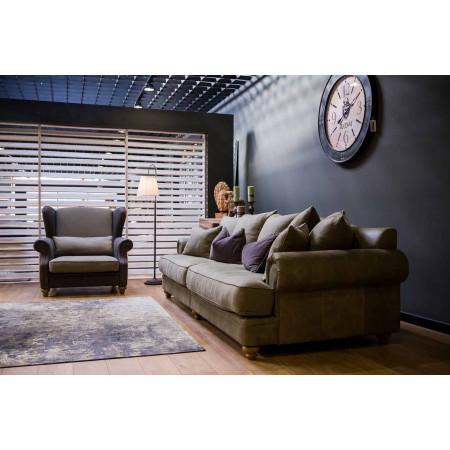 Montreal sofa z szezlongiem i luźnymi poduszkami - 292x214 cm