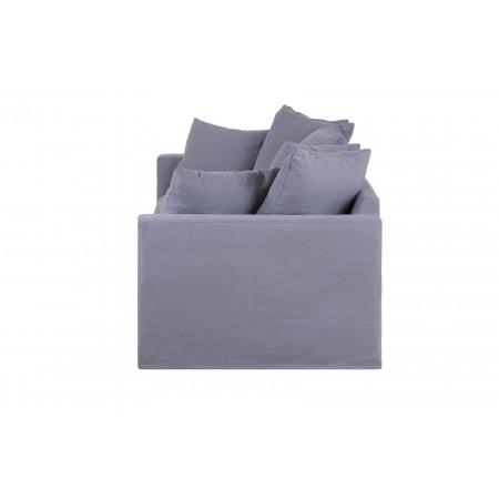 Queen sofa 220 cm z luźnymi poduszkami - końcówka kolekcji tkanin