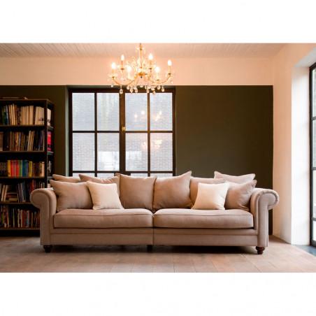 Biała komoda Primavera Furniture z dwiema szufladami, w stylu prowansalskim oraz wykończeniem antycznym