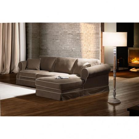 Chelsea stylowa sofa 230cm z dzielonym siedziskiem i standardowym oparciem