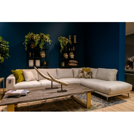 Western nowoczesna sofa narożna 290x160cm na metalowej nodze