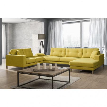 Stylowy pomocnik Primavera Furniture z mosiężnym szczotkowanym blatem 45x35x65cm