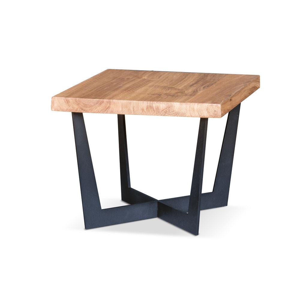 Stylowy podłużny pomocnik Primavera Furniture z czarnym blatem 130x30x46cm