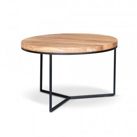 Stylowy podłużny pomocnik Primavera Furniture z metalowym szczotkowanym blatem 130x30x46cm