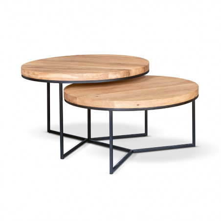 Stolik Primavera Furniture z białym, marmurowym blatem 80x80x38cm