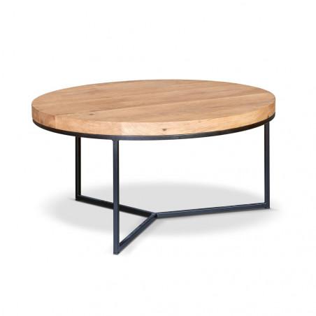 Stolik ze szczotkowanym mosiężnym blatem 100x100x36cm