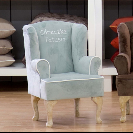 Milord 92cm stylowy fotel tapicerowany