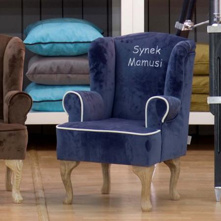 Morgan stylowy fotel w lnianej tkaninie