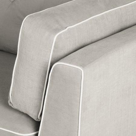 Komfortowa sofa 220 cm Bradley z wysokimi oparciami