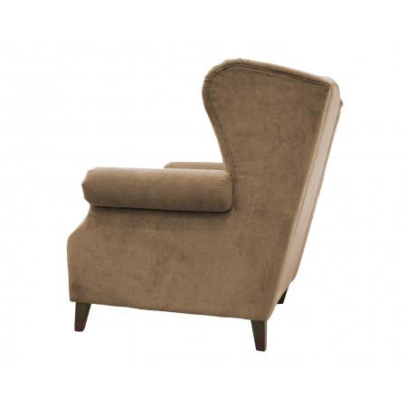 Fotel Danzig 105cm z oparciem pikowanym guzikami