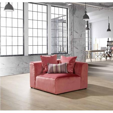 Sabien sofa narożna 271cm x 238cm z luźnym pokrowcem i terminalem