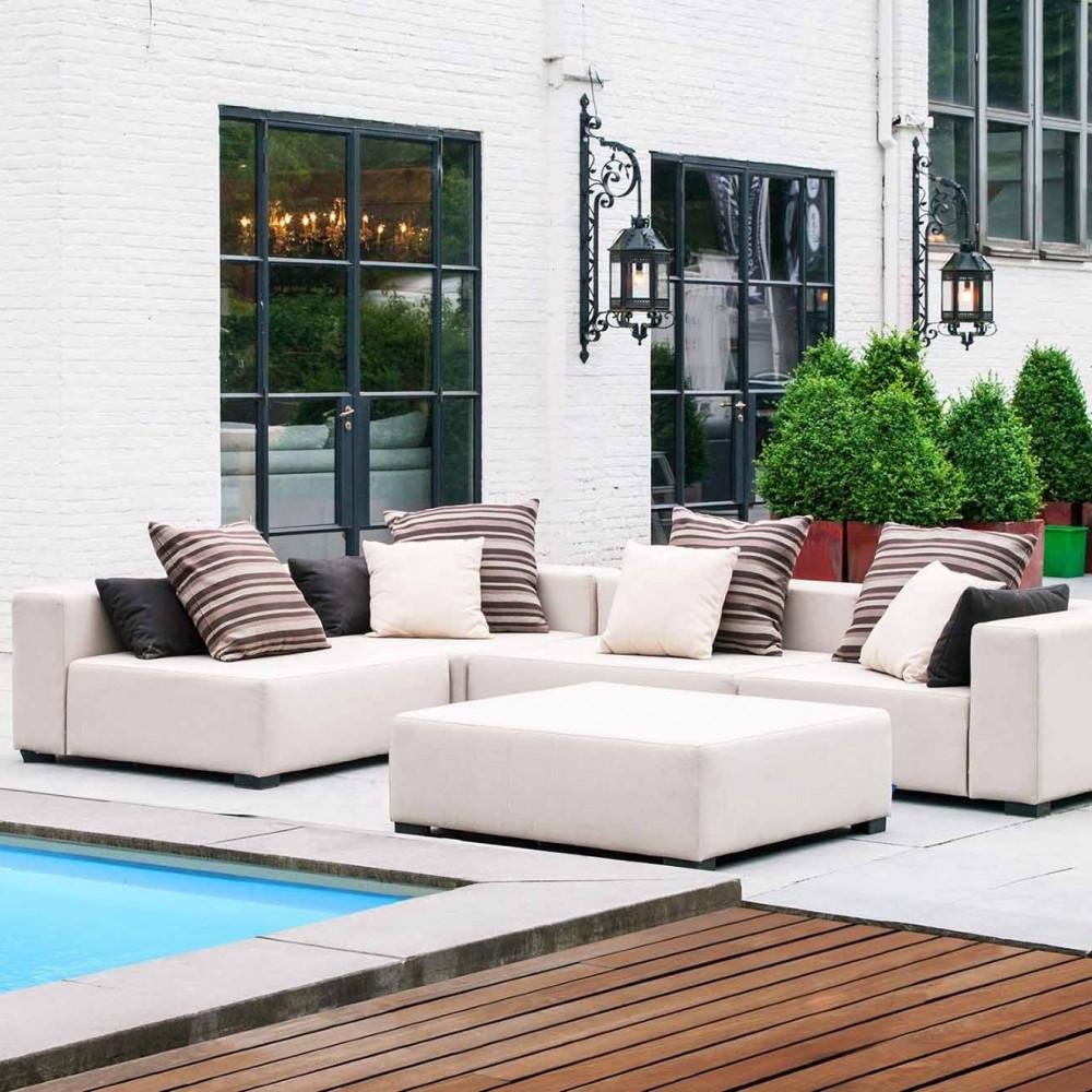 Alberta sofa narożna ogrodowa. Całoroczne meble do ogrodu.