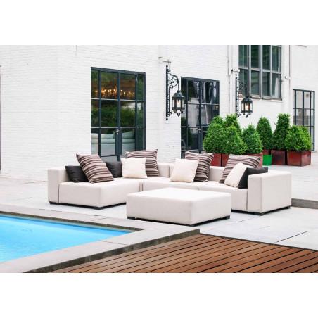 Alberta sofa narożna ogrodowa o wymiarze 376 x 357cm. Całoroczne meble do ogrodu.