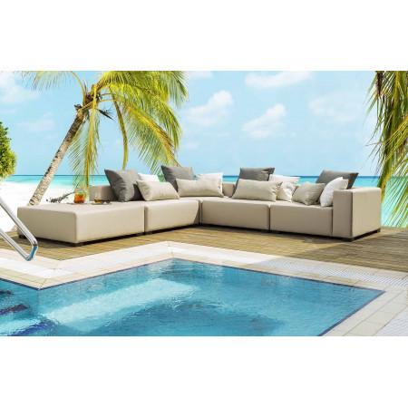 Gand komfortowa sofa ogrodowa 320 cm. Całoroczne meble do ogrodu.