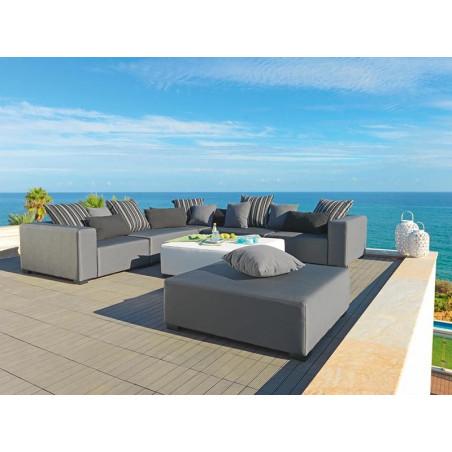 Sierra całoroczny zestaw mebli ogrodowych. Sofa o wymiarze 335x147cm z fotelem 92 cm