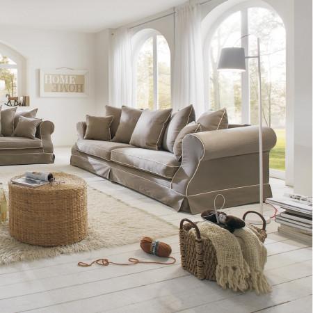 Toledo 2-osobowa sofa z ozdobnymi guzikami w oparciach