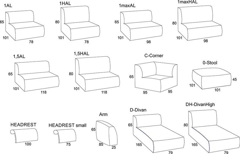 Wymiary G Box Primavera Furniture