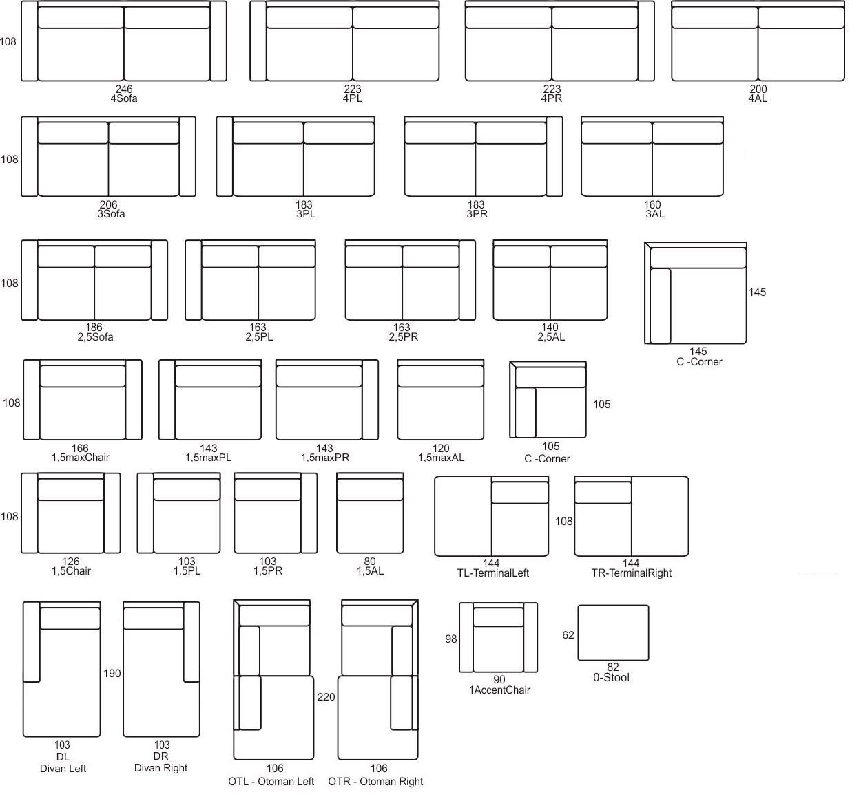 Monolithos wymiary Primavera Furniture