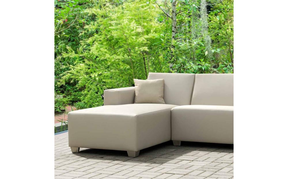OKAZJA! Willy całoroczna sofa z szezlongiem do ogrodu lub na taras 164x214 cm