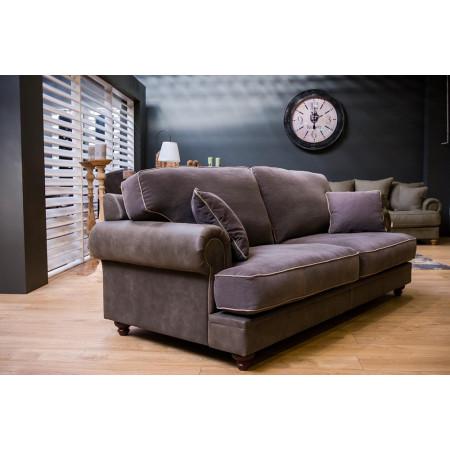 Okazja! Chelsea sofa 230 cm w skórze i tkaninie - model z ekspozycji