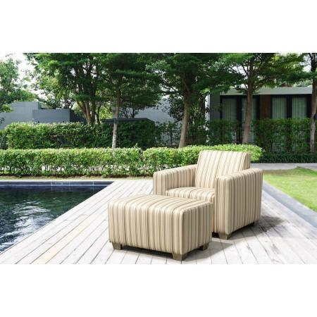 WILLY całoroczny fotel oraz pufa do ogrodu lub na taras