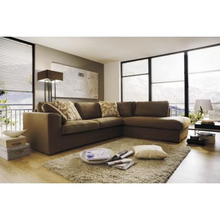 Fabien 2,5 sofa narożna z luźnym pokrowcem i terminalem