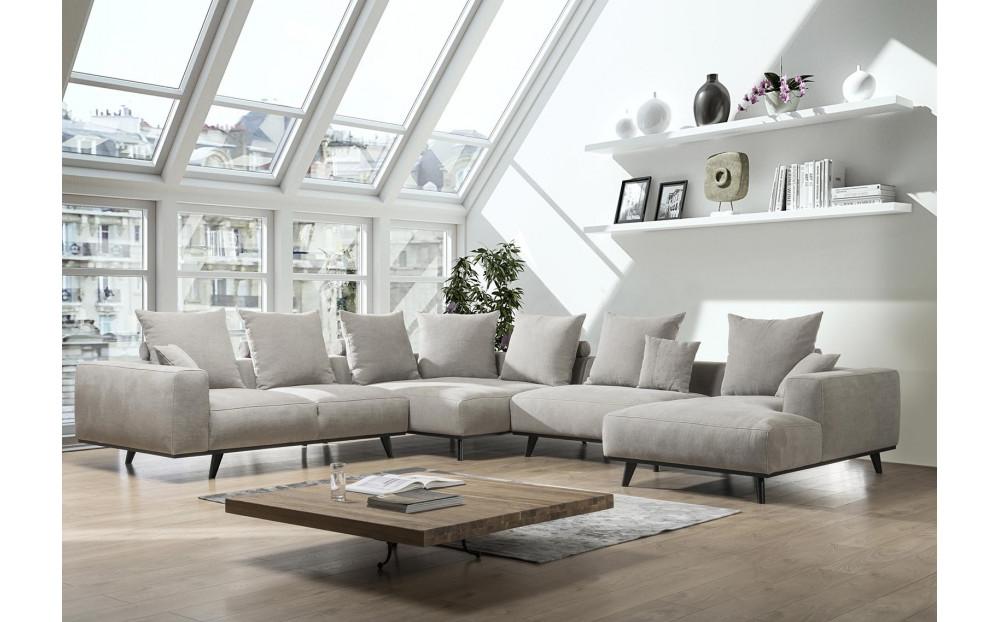 Lindos narożna sofa z szezlongiem 354cm x 393cm x 170cm