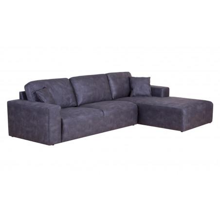 Montreal sofa narożna z szezlongiem i luźnymi poduszkami, wymiar 294x374x214cm