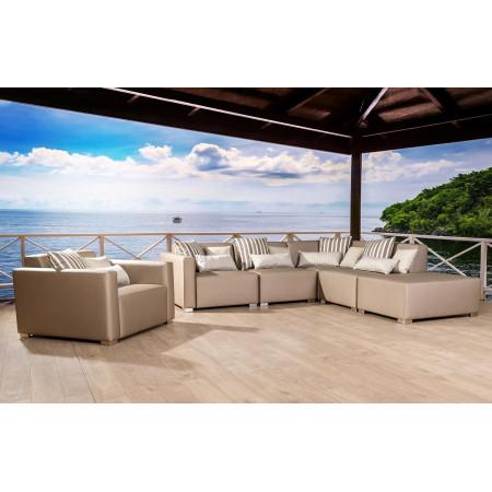 Ibiza XL  297x280 cm zestaw do ogrodu z fotelem