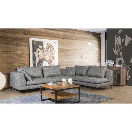 Nowoczesna sofa Allegria ze zdejmowanym pokrowcem na metalowych nogach 330x230cm