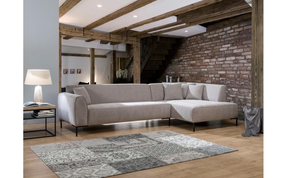Nowoczesna sofa Lido z otomaną 313x162cm