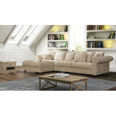 King Bridge stylowa sofa 203x342cm z szezlongiem