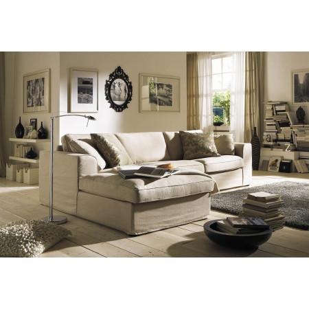 Fabien sofa 2,5 z szezlongiem i luźnym pokrowcem