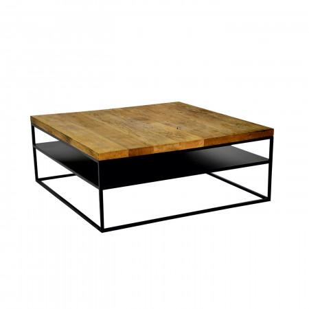 Stolik kawowy Primavera Furniture z dębowym blatem 100x120x36cm