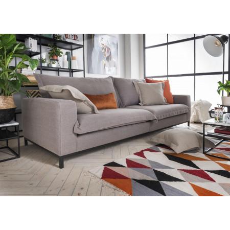 Claris stylowa sofa 284cm na metalowej ramie