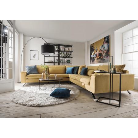 Napoli narożna sofa 333x303cm o dwóch różnych głębokościach siedzisk
