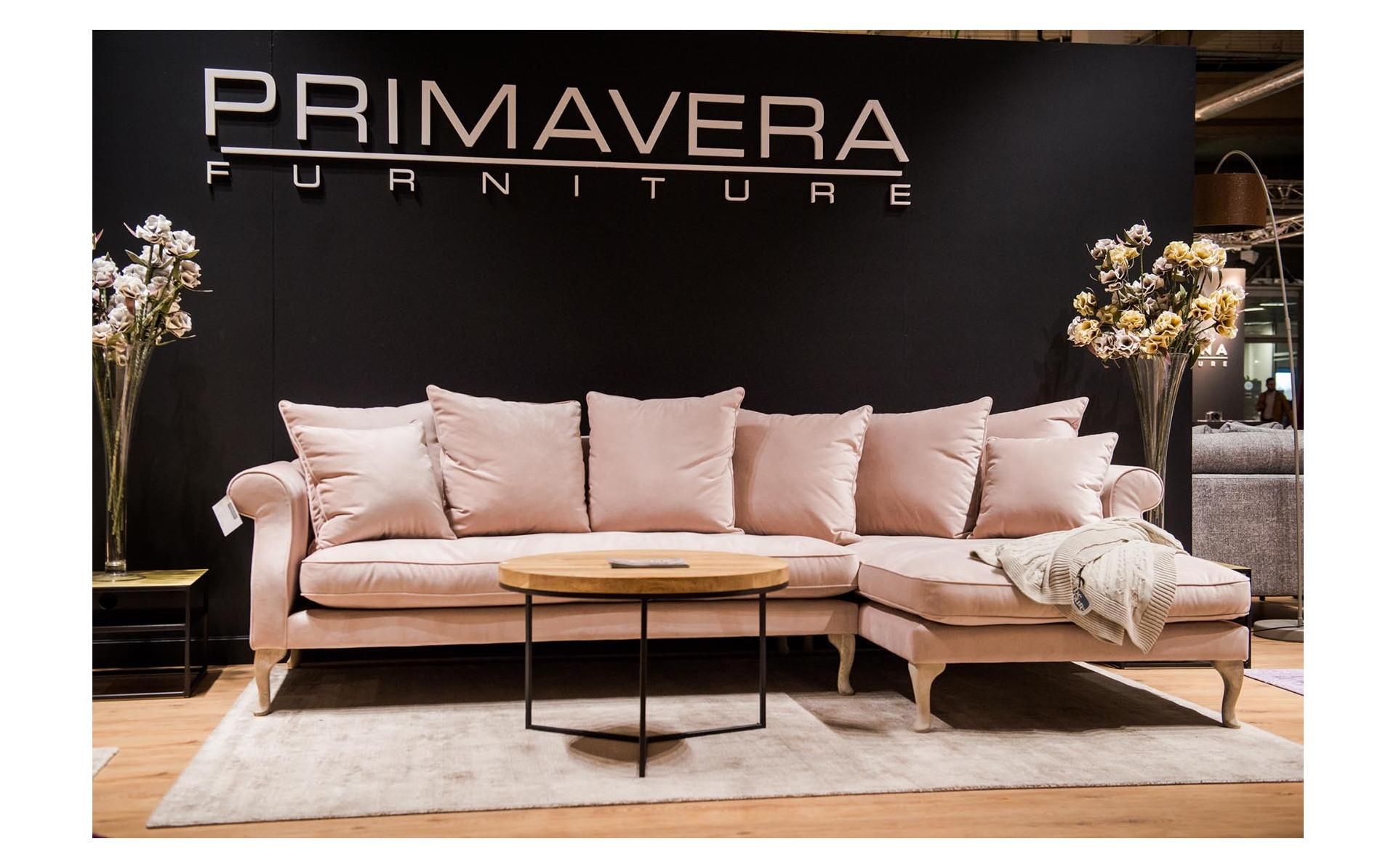 Queen sofa z szezlongiem 312x165cm na pięknych giętych nogach