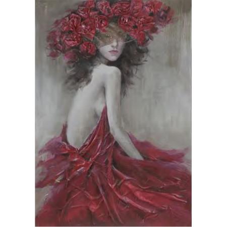 Obraz akryl Dziewczyna z wiankiem 100x150cm