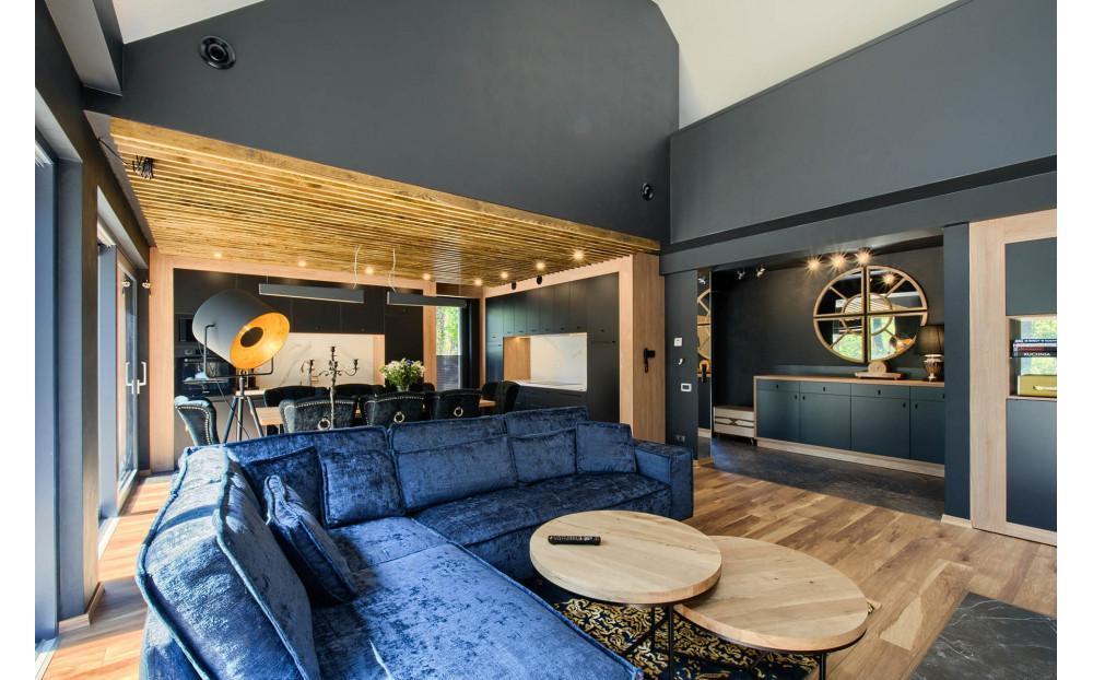 Degero narożna sofa 220x299cm z ozdobnym szwem