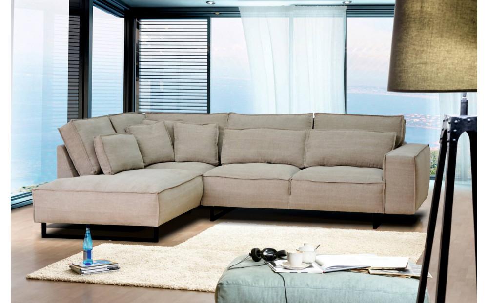 Degero narożna sofa 299x220cm z ozdobnym szwem