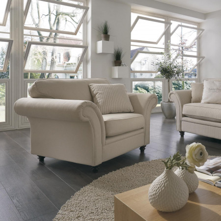 San Remo stylowy fotel tapicerowany