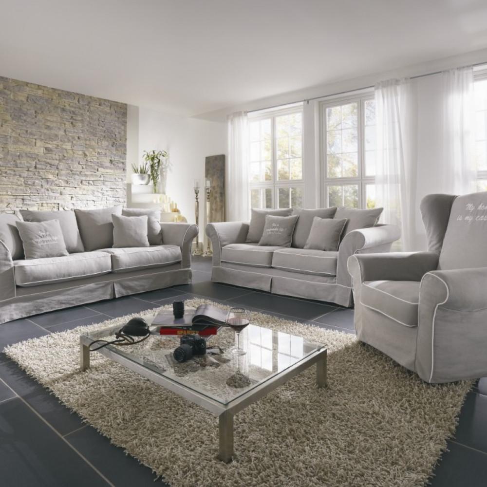 Biała komoda Primavera Furniture z dwiema szufladami oraz dębowym blatem w stylu prowansalskim