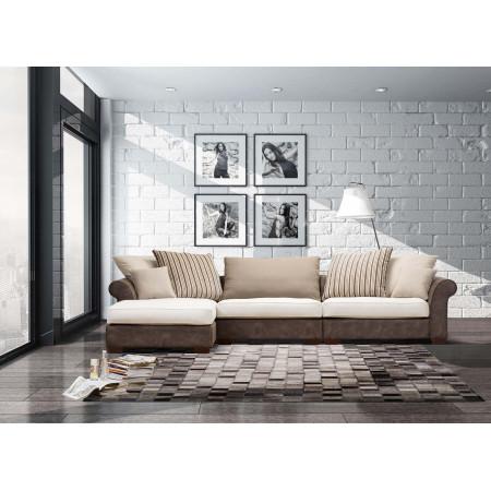 Castle sofa tapicerowana z szezlongiem 180x358cm