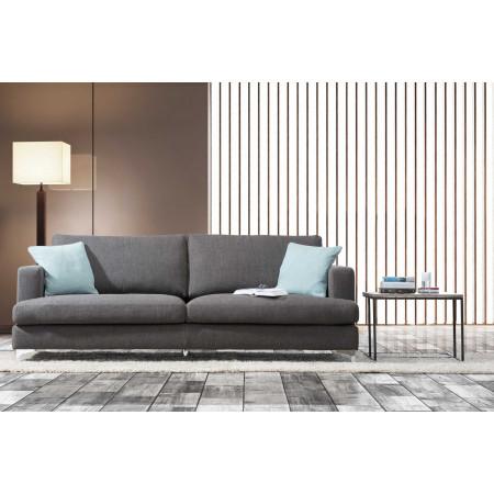 Vincenza nowoczesna sofa z chromowanymi nogami 232 cm