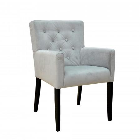 Kingstone krzesło tapicerowane z ozdobnymi guzikami