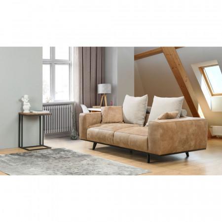 Naomi stolik kawowy z dębowym blatem 100cm x 80cm Primavera Furniture