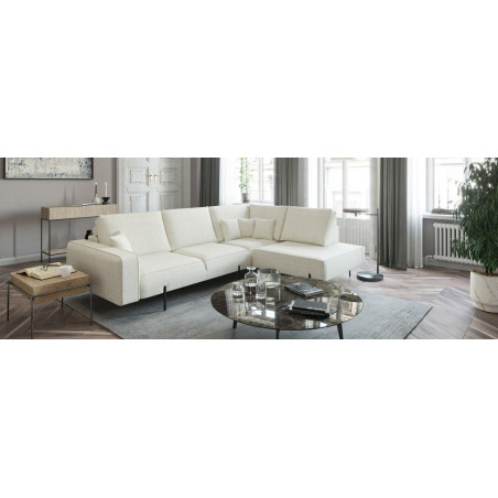 Monolithos narożna sofa 220x289cm z ozdobnym szwem
