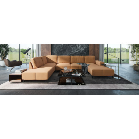 Wprzedaż ekspozcyji! Lindos narożna sofa z szezlongiem 354x393x170cm