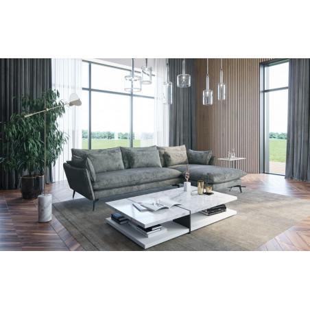 Fabien sofa 299x190cm z szezlongiem i zdejmowanym pokrowcem