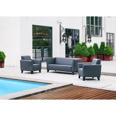 San Remo 120cm stylowy fotel tapicerowany